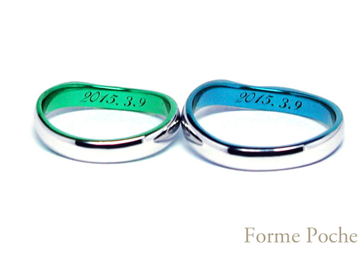 hi151019ew998 Made to order wedding ring 刻印