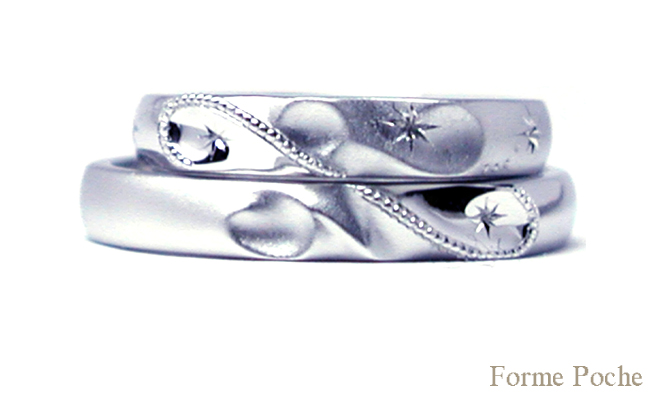 hi151016t1r2 made to order weddingring イニシャル 星