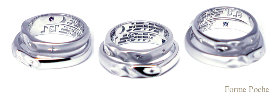 hi151016t1r1made to order made weddingring 音符 誕生石