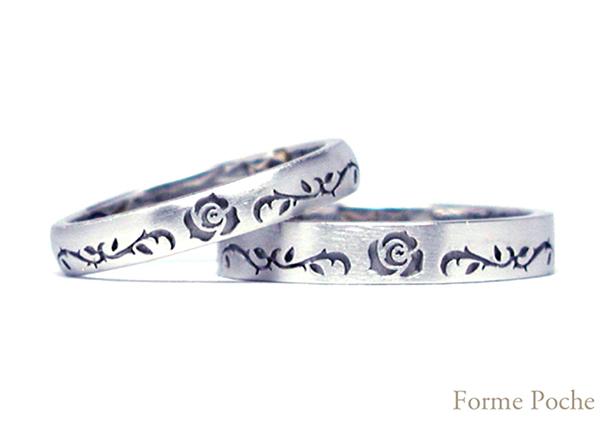 hi151024w983r1 オーダーメイド 結婚指輪 薔薇