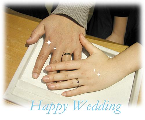 150928w965R1 オーダーメイド結婚指輪 シンプル カラフル