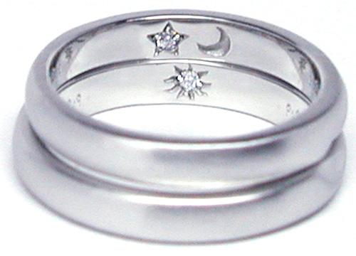 hi151128w1006R2 オーダーメイド結婚指輪内側 月 星 太陽 ダイヤ