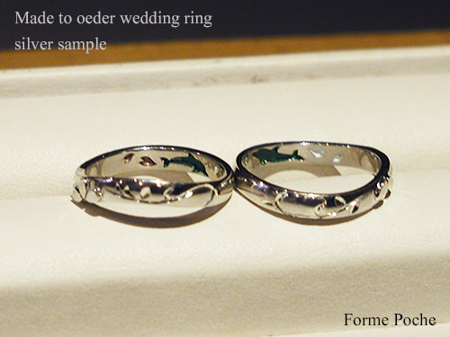 Made to oeder weddding ring Dolphi sakura151106t9SR5