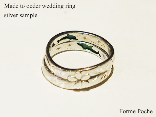 Made to order wedding ring Dolphin initial 151106t9SR4