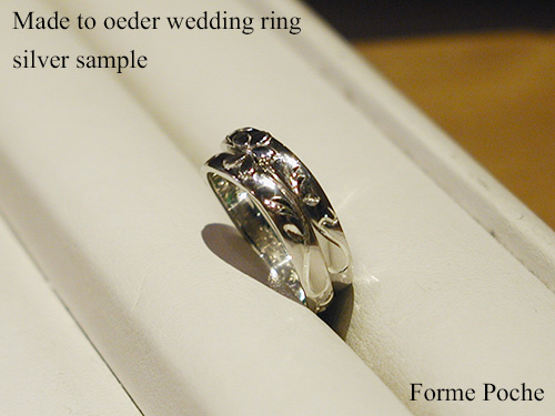 Made to order wedding ring cherry blossoms initial 151106t9SR2
