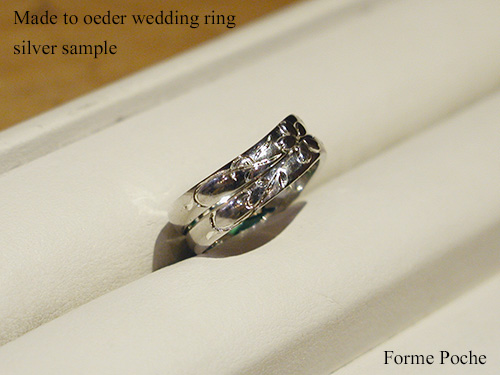 Made to order wedding ring cherry blossoms initial 151106t9SR3