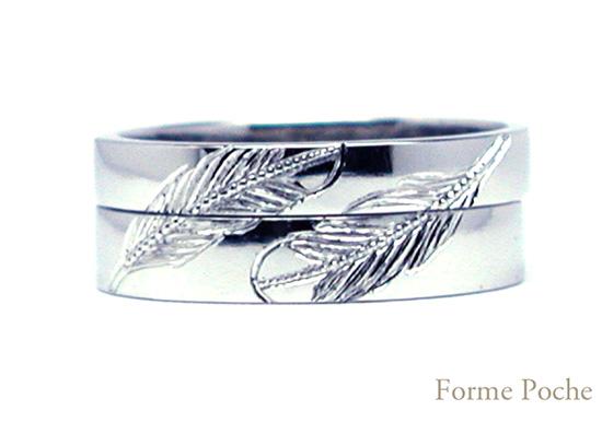 hi151101w1003-01 オーダーメイド結婚指輪 インディアン フェザー