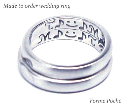 hi151128w1006R2 オーダーメイド結婚指輪内側 音符 顔