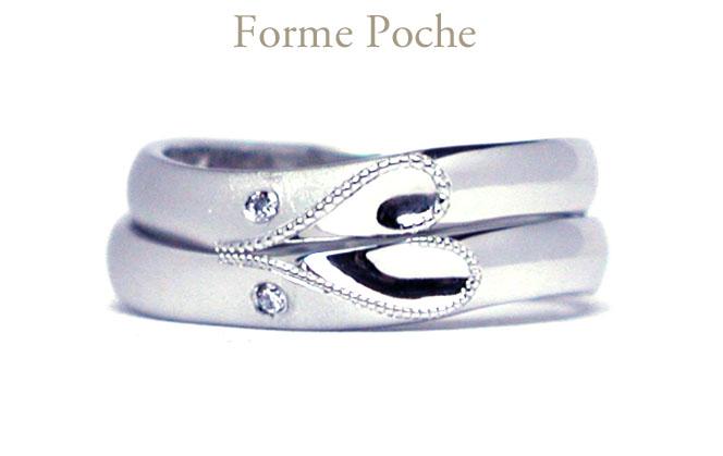 hi151212w1005R1オーダーメイドの結婚指輪 ハート ミル  ダイヤ
