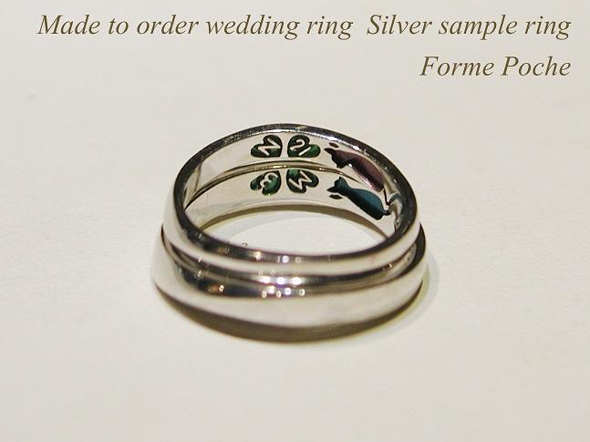 hi151207s1056R1 オーダーメイド結婚指輪のシルバーサンプル シンプル ミル ネコ 桜