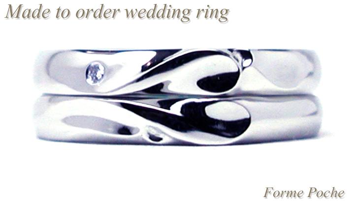hi151207w997R2 オーダーメイド結婚指輪 ハートとイニシャル ダイヤモンド
