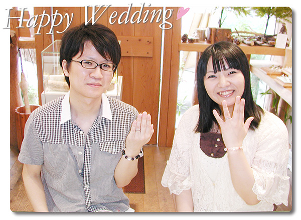 hi160115w1017-2 オーダーメイドの結婚指輪 大阪 薔薇の彫刻