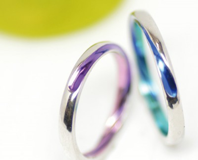 acqua水滴のカラー結婚指輪