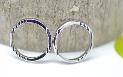 波紋の結婚指輪