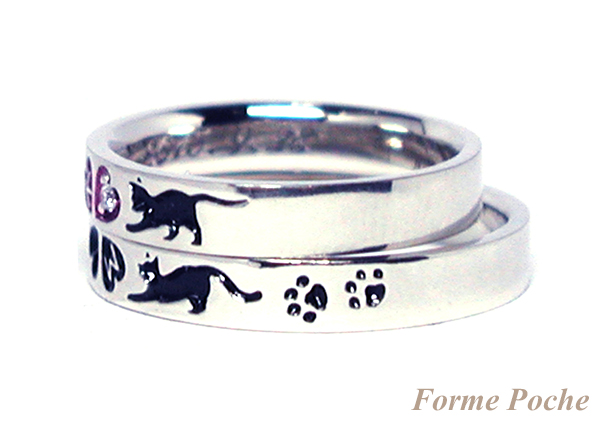 hi160114w1016-3 オーダーメイドの結婚指輪 ネコの肉球
