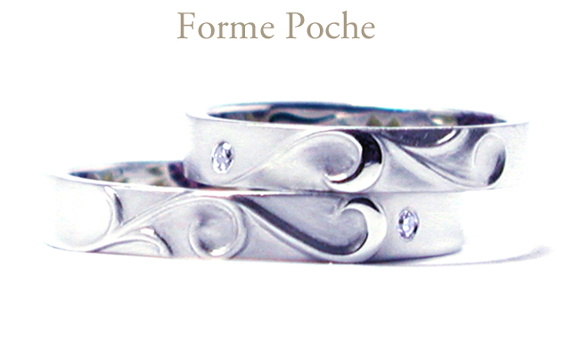 hi151213w1009R1 オーダーメイドの結婚指輪 唐草 記念日 ダイヤモンド