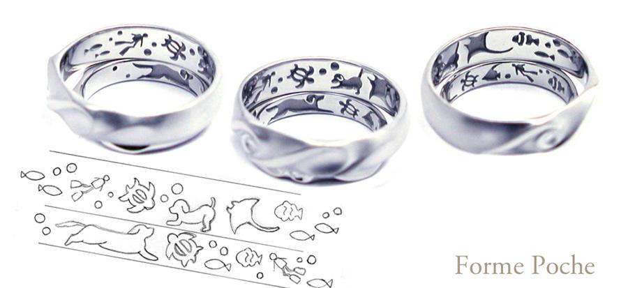 hi160204w938-オーダーメイドの結婚指輪内側 スキューバーダイビング 愛犬02