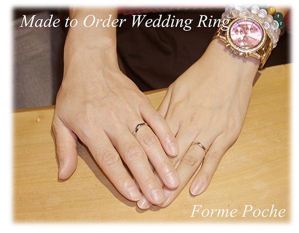 160328t14 オーダーメイド結婚指輪 京都 大阪 シンプル