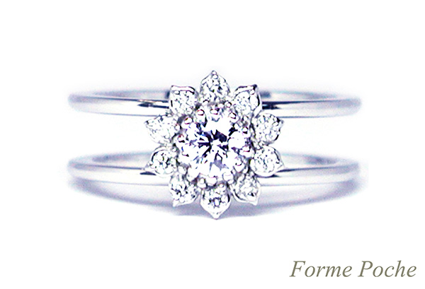 160402w1018 ひまわりの婚約指輪 オーダーメイド 大阪