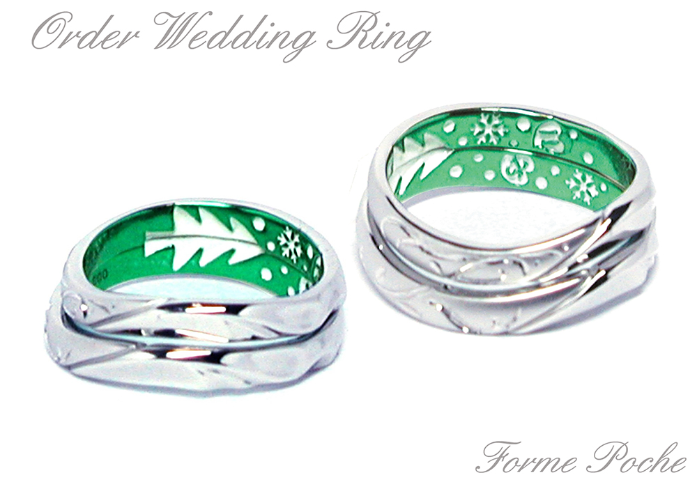 hi160415w1021-R3 osaka Wedding Ring green white