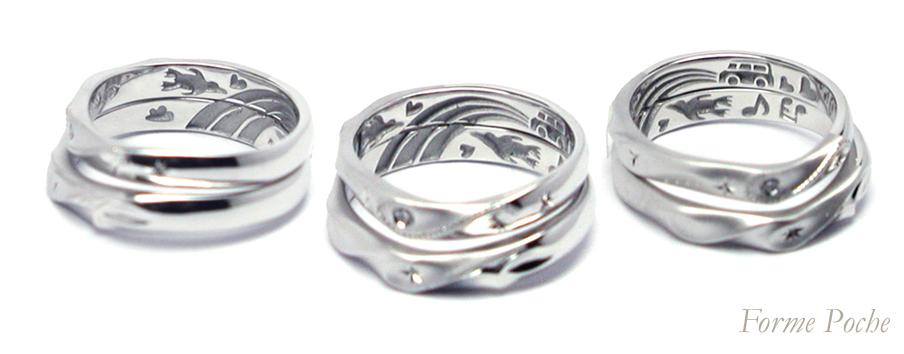 hi160403w1010 オーダーメイド結婚指輪 ペンギン 虹 タント 想い出