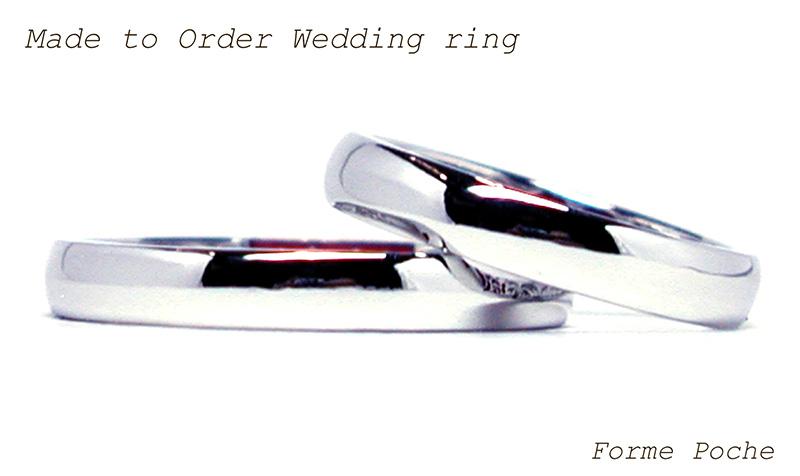 hi160414tw003 結婚指輪オーダーメイド 大阪 シンプル 平甲丸 プラチナ