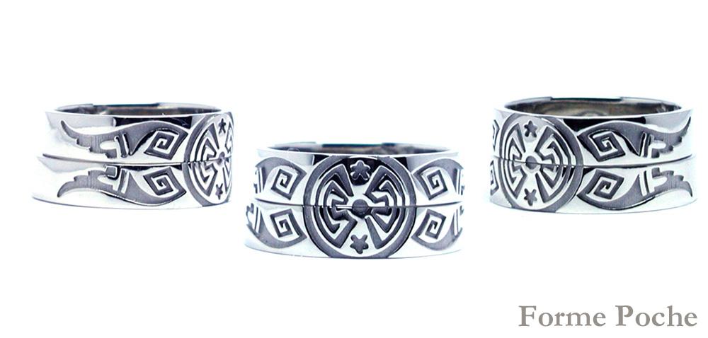 hi160409w1028-1 オーダーメイド結婚指輪 インディアン