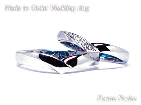 hi160514TW12 大阪のオーダーメイド結婚指輪 シンプル ダイヤモンド