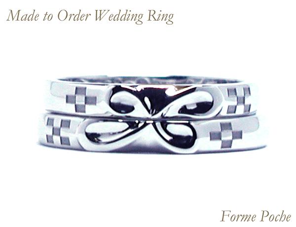 160428w1031R1 結婚指輪オーダーメイド 無限マーク クローバー ミンサー模様