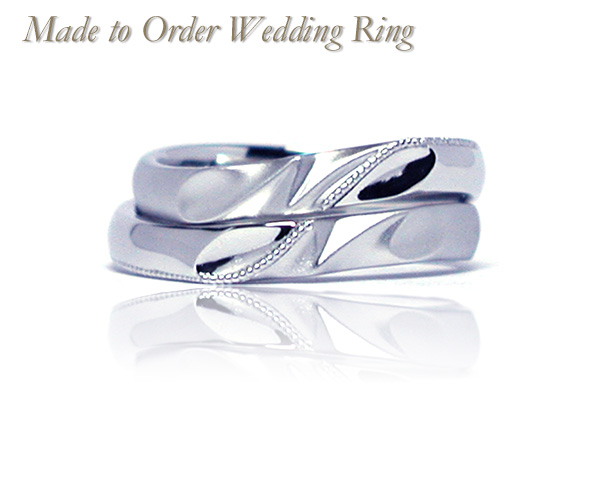 hi160429w1027-3 Made to Order Wedding Ring イニシャル 無限マーク