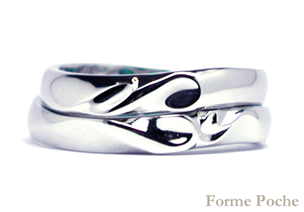 hi160530w1036オーダーメイド結婚指輪 イニシャルとハートのデザイン