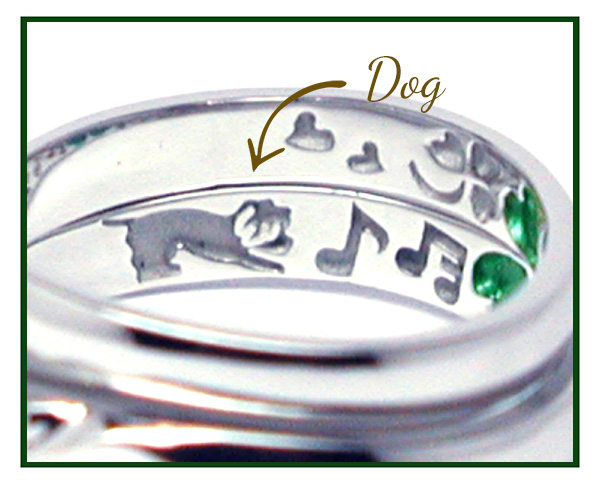 hi160530w1036オーダーメイド結婚指輪裏側彫刻 プードル