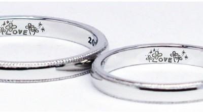 ふたりの好きな言葉を描いた結婚指輪
