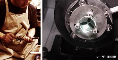 工房でリング制作とレーザー彫刻(約1ケ月)
