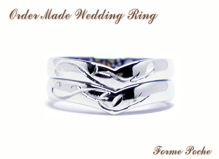 hi160626w1037 Made to order Wedding ring 外 大阪 イニシャル ハート