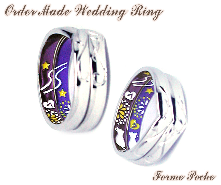 hi160626w1037R3 Made to order Wedding ring 大阪 天の川 花火