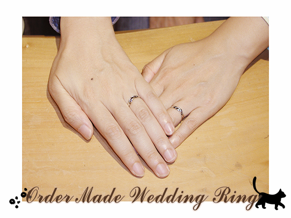 hi160626w1037 Made to order Wedding ring 大阪 ネコ 花火