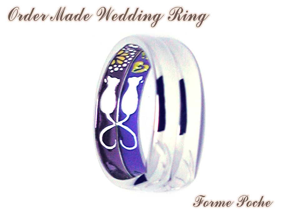 hi160626w1037R2c Made to order Wedding ring 大阪 ネコ