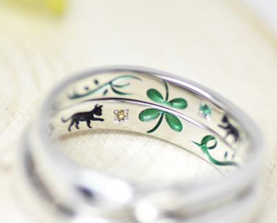 猫と双葉の結婚指輪