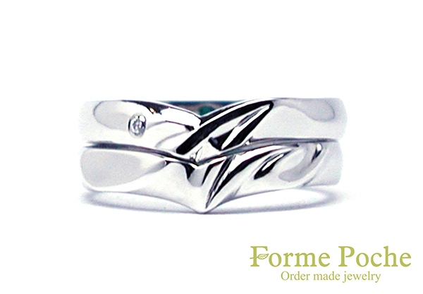 hi160908w1041 結婚指輪オーダーメイド イニシャル ダイヤ