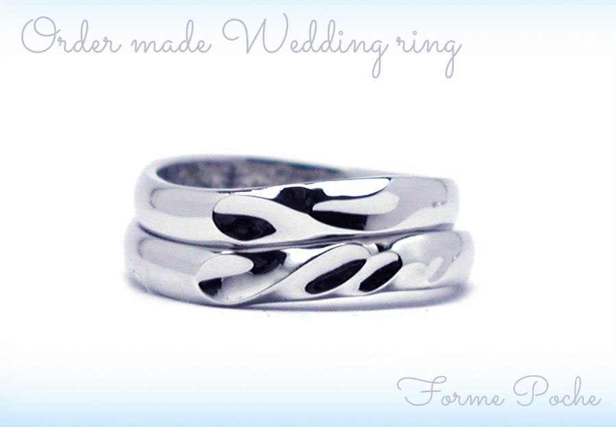 161014w1052-R1 結婚指輪オーダーメイド イニシャルとハートのオリジナルデザイン