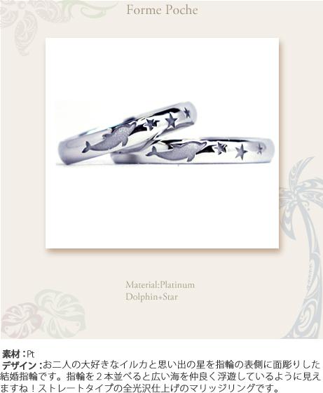 イルカと星オーダーメイド結婚指輪w747