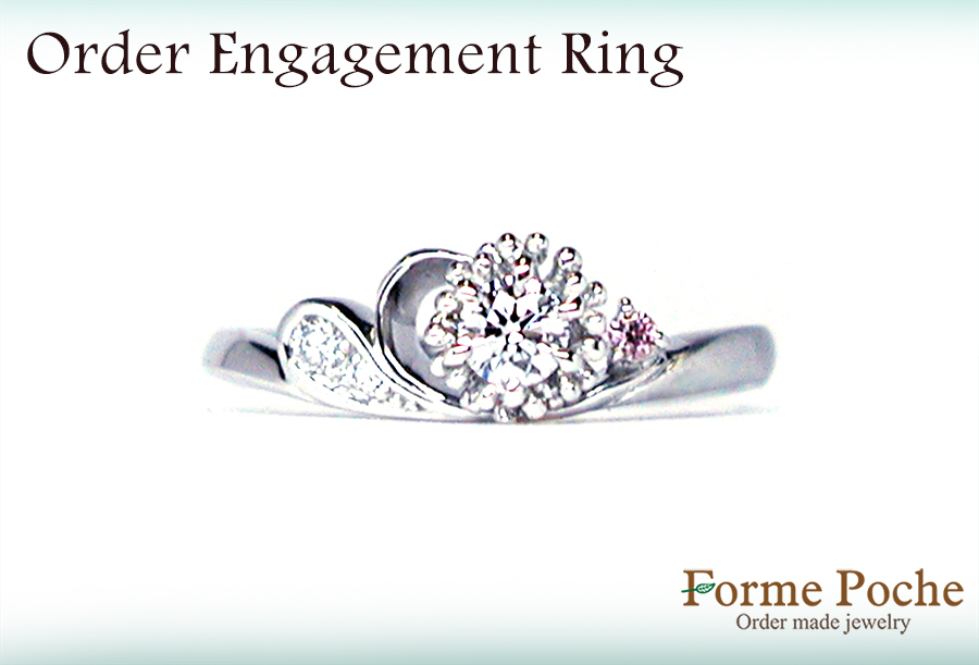 hi161202w1053-R2 オーダーメイド婚約指輪 大阪  シロツメクサ