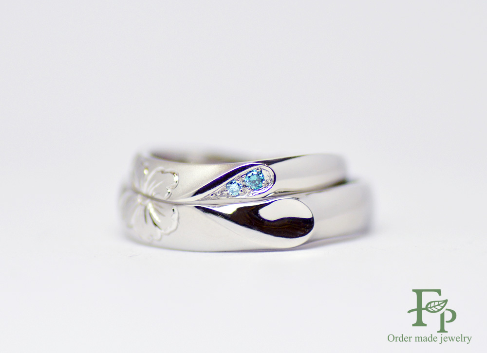 二人で1つの結婚指輪大阪フォルムポッシュw1048-ring01