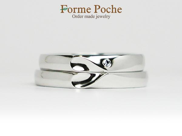オーダーメイド結婚指輪大阪フォルムポッシュ二人で一つのハートw1044-R01c