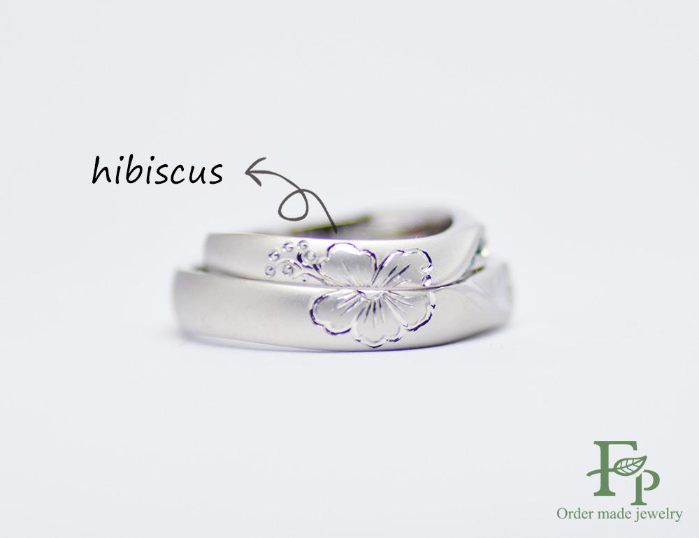 二人で1つの結婚指輪hibiscus大阪フォルムポッシュw1048-ring02