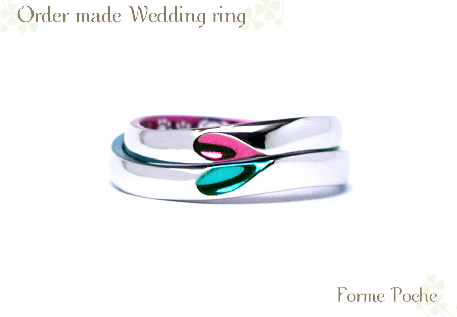 結婚指輪 カラフル オリジナル w1067hiR01