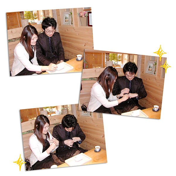 w1062-3オーダーメイド結婚指輪フォルムポッシュ大阪