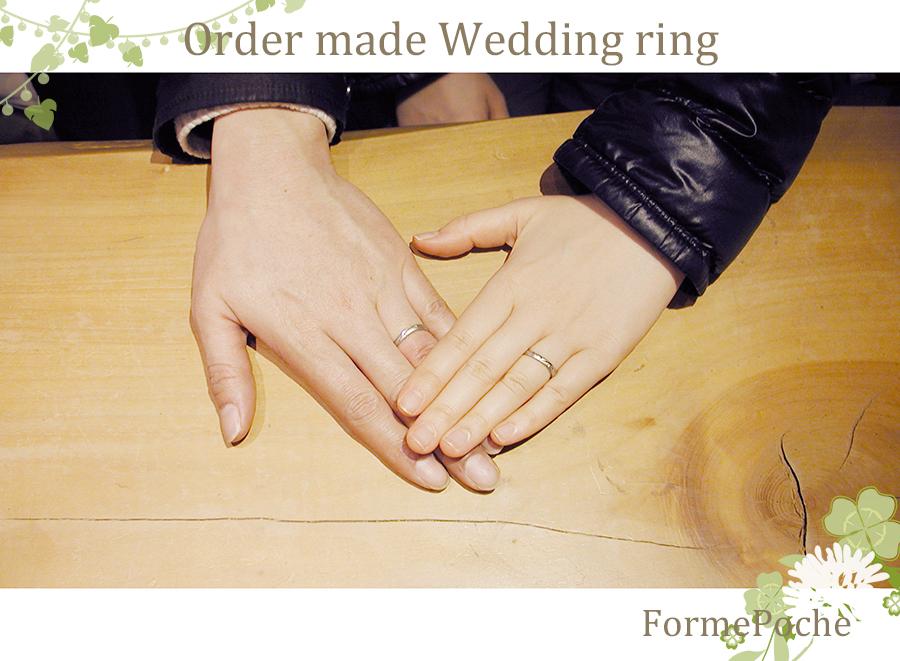 hi-w1061-1 オーダーメイド結婚指輪 フォルムポッシュ大阪 チワワ 内石 イニシャル