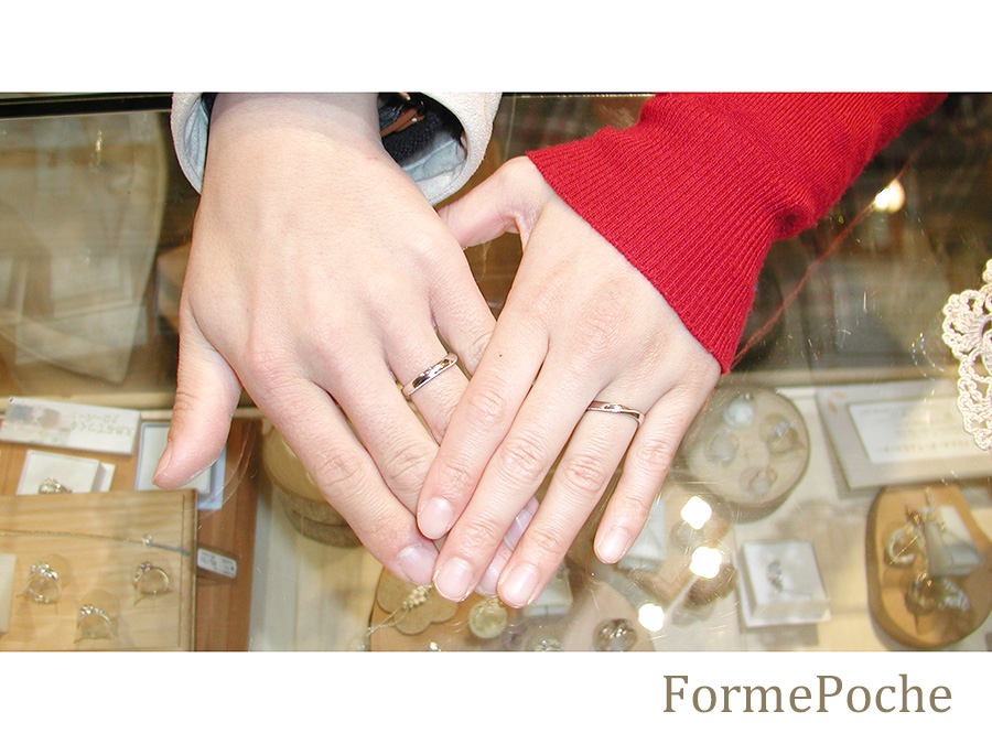 hiw1056-01 結婚指輪 大阪 オーダー シンプル ミル